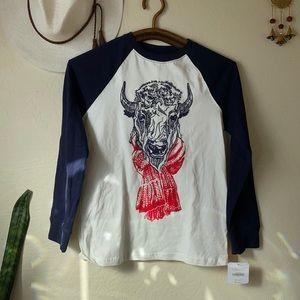 Gymboree embroidery Buffalo w scarf